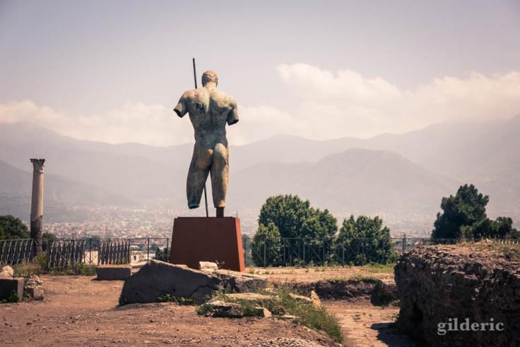 Vers la sortie du site de Pompéi