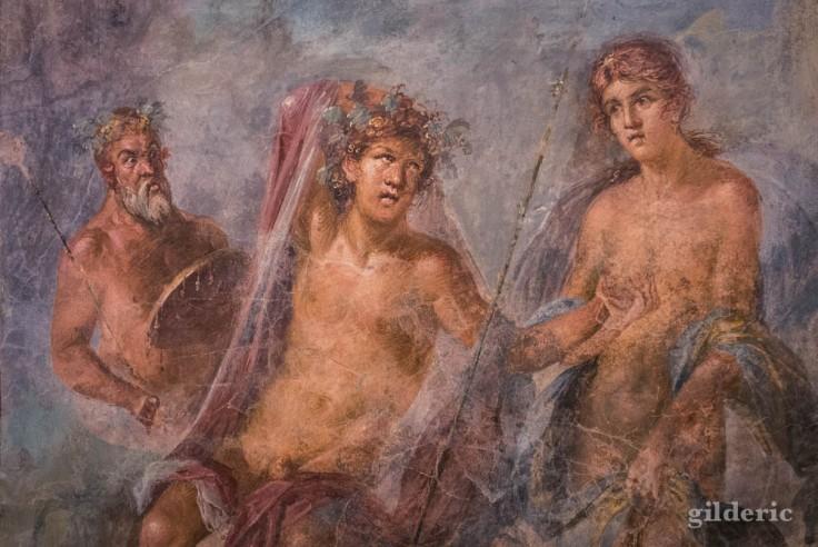 Fresque de Pompéi (à l'Antiquarium)