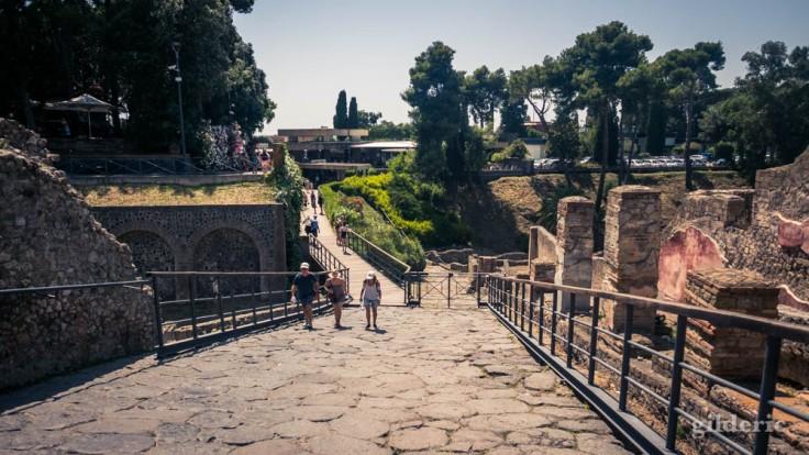 Porta Marina : entrée et sortie du site de Pompéi