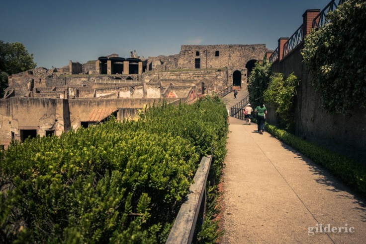 Porta Marina, une des entrée du site de Pompéi
