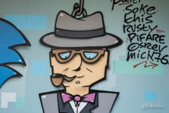 Maigret (version graffiti) à l'expo Super Marionnettes