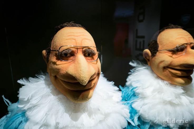 """Chirac (star des marionnettes du Bébête Show (expo """"Super Marionnettes"""")"""