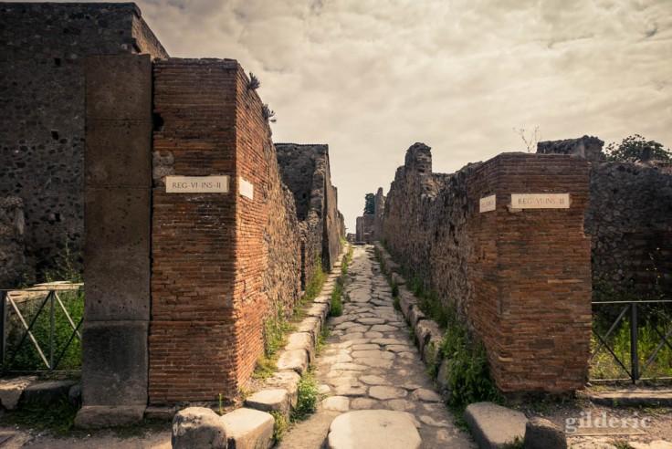 Les rues romaines de Pompéi