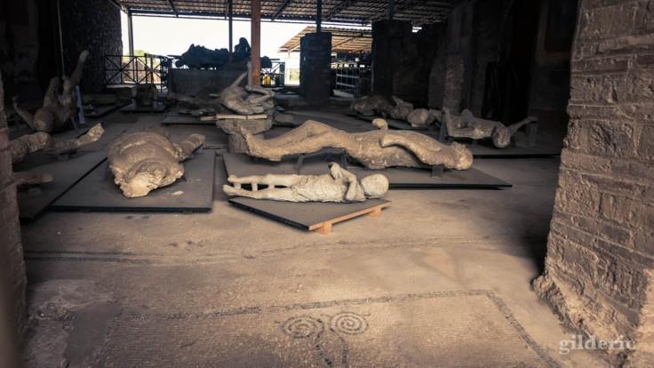 Moulages de corps à Pompéi