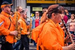 Fanfare en orange au cortège du 15 août 2019