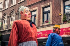 Géants de Walshoutem au cortège du 15 août à Liège