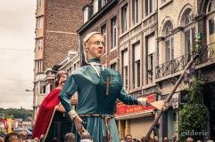 Les géants Gertrudis et Pepijn van Landen dans le cortège du 15 août 2019