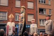Géants de Liège en tête du cortège du 15 août 2019 en Outremeuse