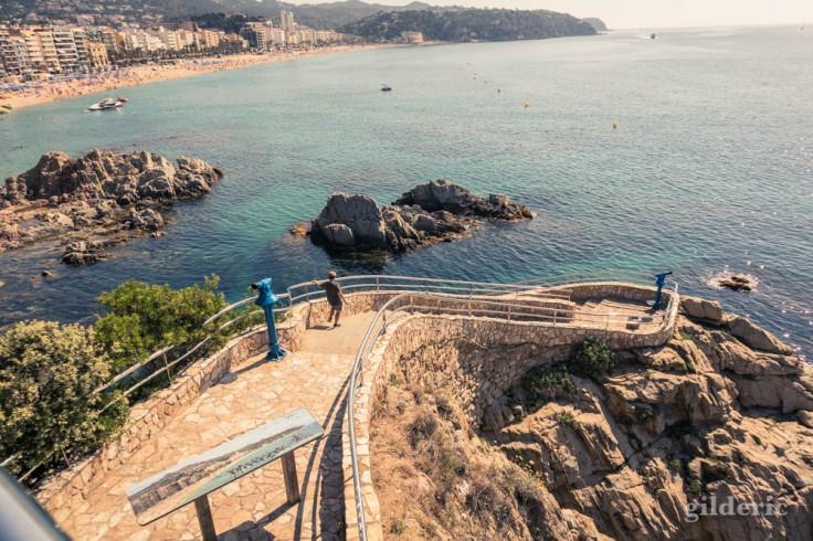 Lloret de Mar : point de vue sur la mer et la plage