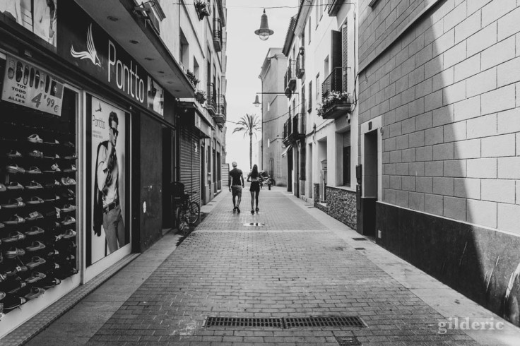 Street photography à Lloret de Mar (noir et blanc)