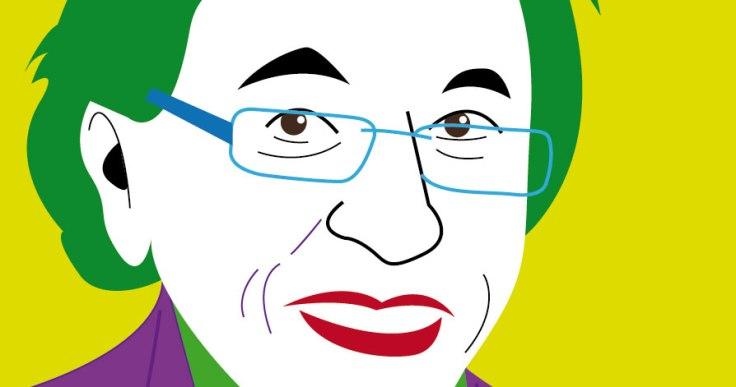 Dessin d'Elio di Rupo en Joker (détail)