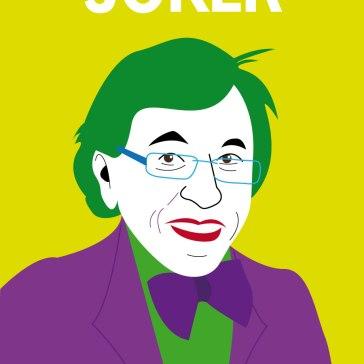 Caricature d'Elio di Rupo en Joker (Batman)