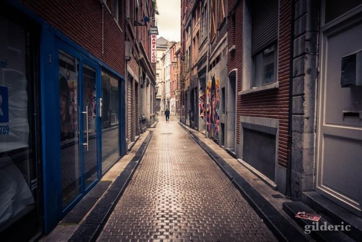 La silhouette dans la ruelle (Liège, Belgique)