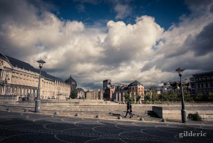 Jour nuageux en automne (Place Saint-Lambert, Liège)