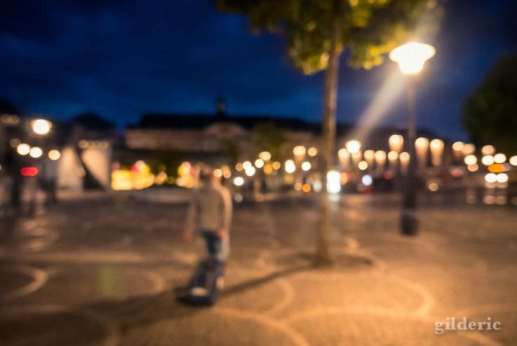 Photo de rue floue