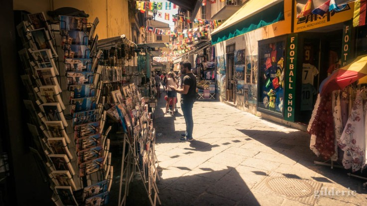 Street photography à Sorrente : attrape-touristes