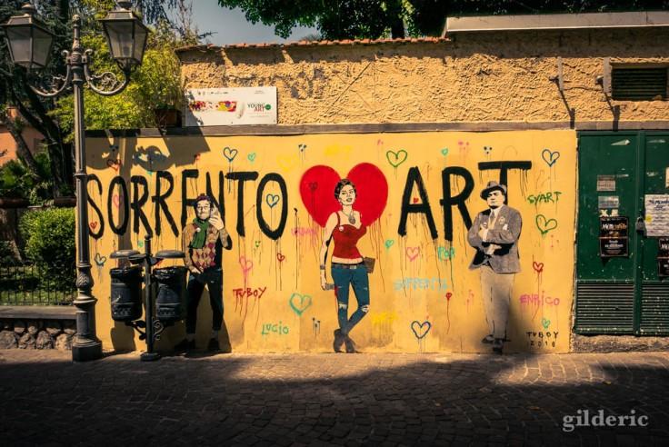 Street art à Sorrente : TVBOY (Dalla, Loren et Caruso)