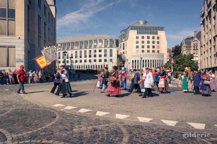 Vieux métiers de Liège (cortège des Fêtes de Wallonie à Liège)