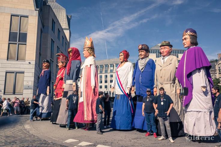 Tchantchès et les géants de la province de Liège