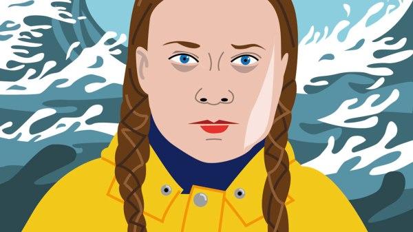 Greta Thunberg : portrait vectoriel