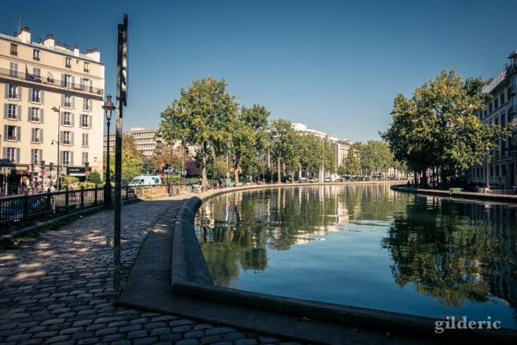 Reflets sur le bassin des Récollets (canal Saint-Martin)