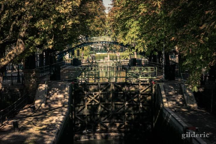 L'écluse des Récollets depuis la passerelle de la Grange aux Belles