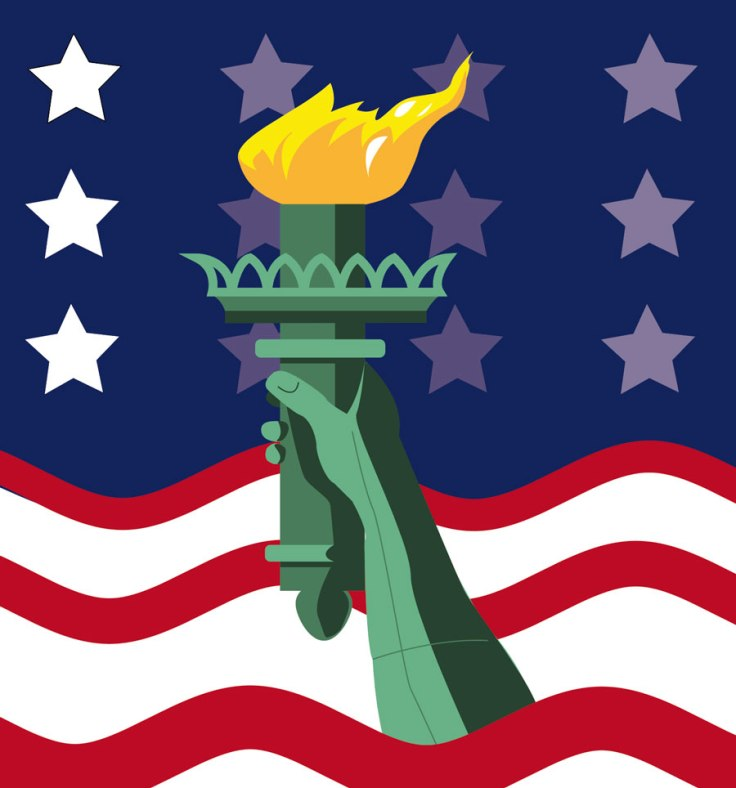 Flambeau de la statue de la Liberté (détail)