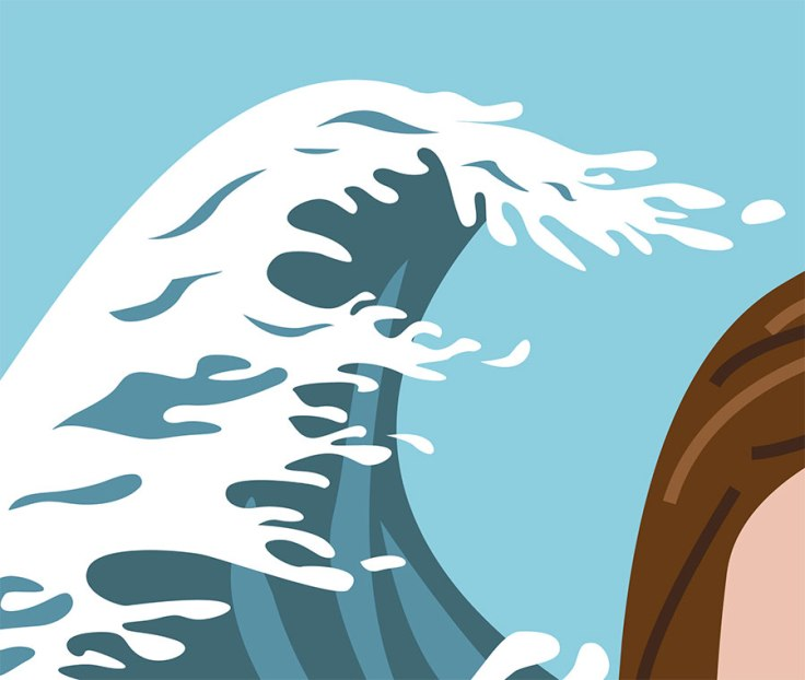 La vague (librement inspirée de l'estampe d'Hokusai)