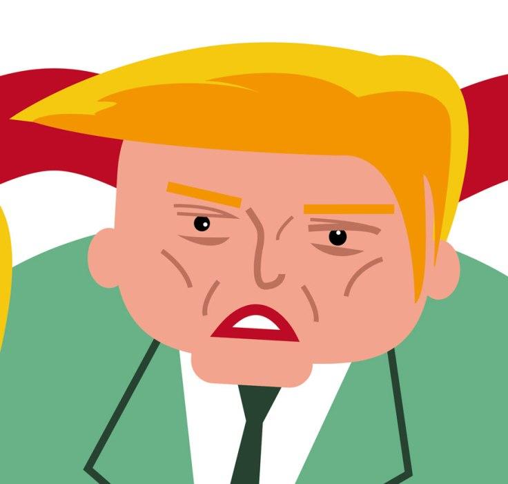 Donald Trump (caricature, détail)