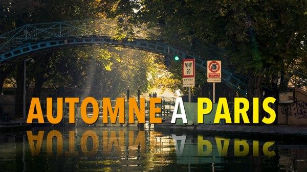 Automne à Paris : promenade au canal Saint-Martin