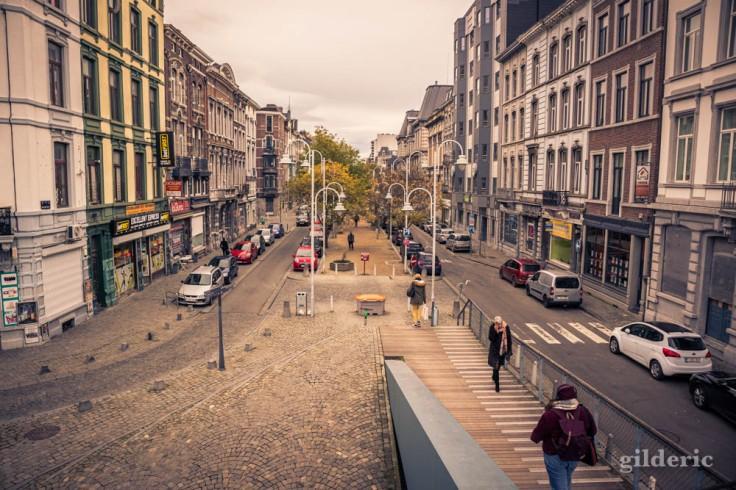 La passerelle en automne à Liège