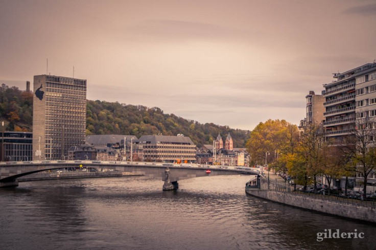 Liège en automne sous ciel gris
