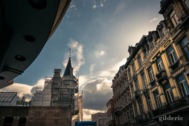 Nuages autour de la Grand Poste, Liège