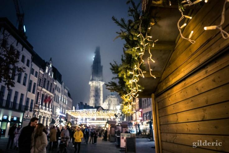 Anvers, la vieille ville, le soir du Nouvel An