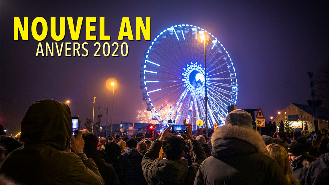 Nouvel an 2020 à Anvers : feu d'artifices et illuminations
