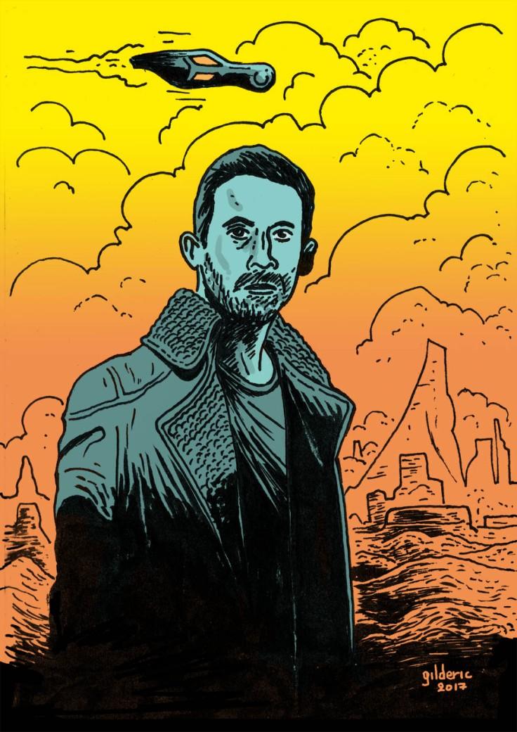 Ryan Gosling dans Blade Runner 2049 (dessin)