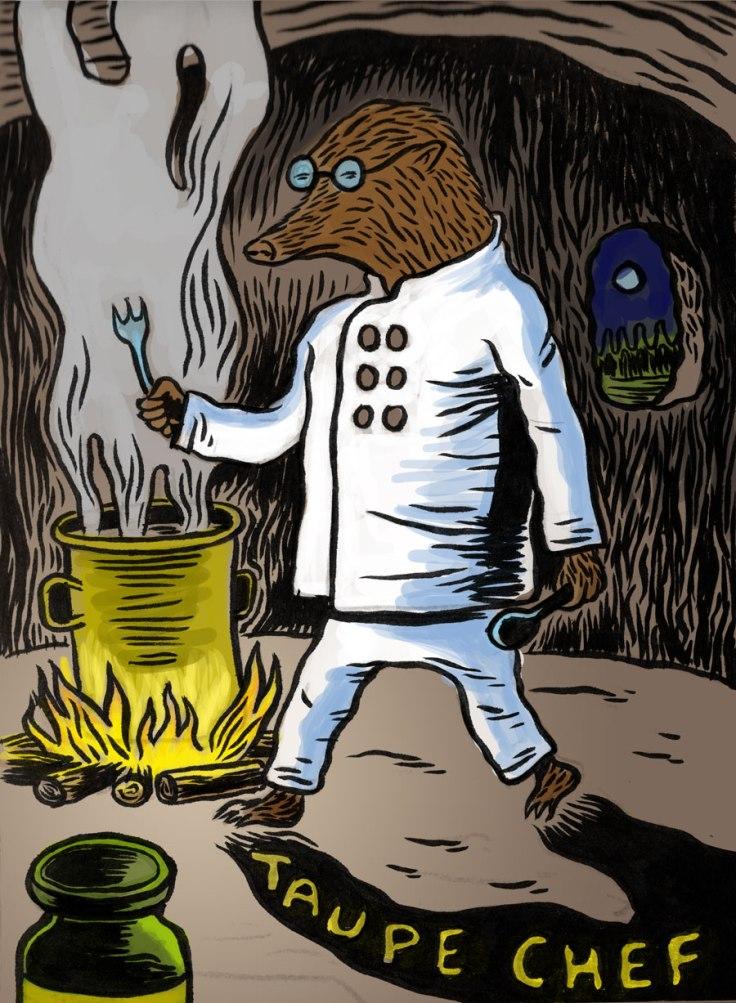 Taupe Chef, premier dessin