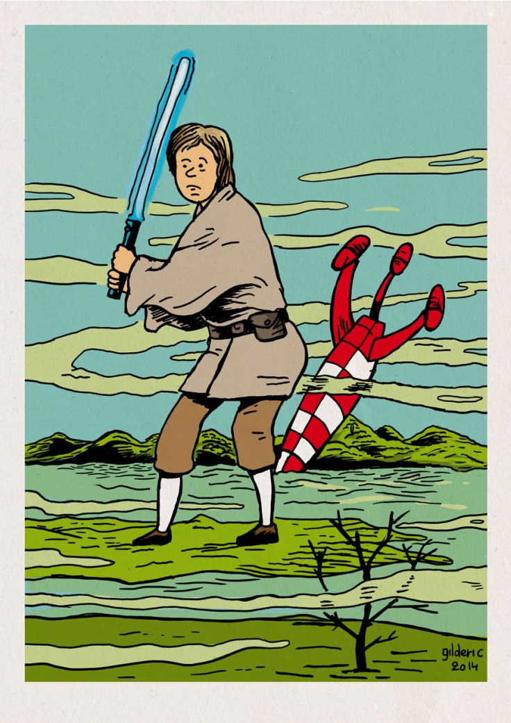 Tintin Skywalker (Tintin vs Star Wars mashup)