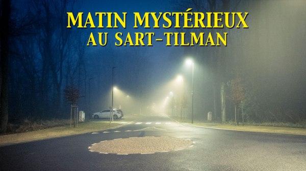 Street photography : matin mystérieux au Sart-Tilman