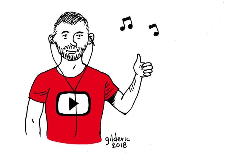 Gilderic : selfie dessiné (pour YouTube)