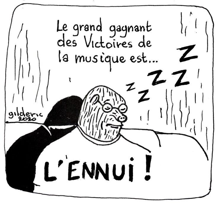 Taupe Chef : résumé des Victoires de la Musique (dessin)