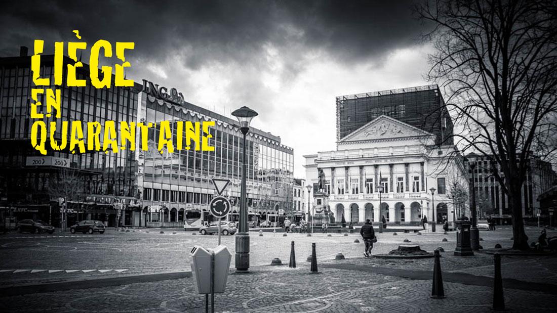 Liège Lockdown (en quarantaine) - street photography en noir et blanc