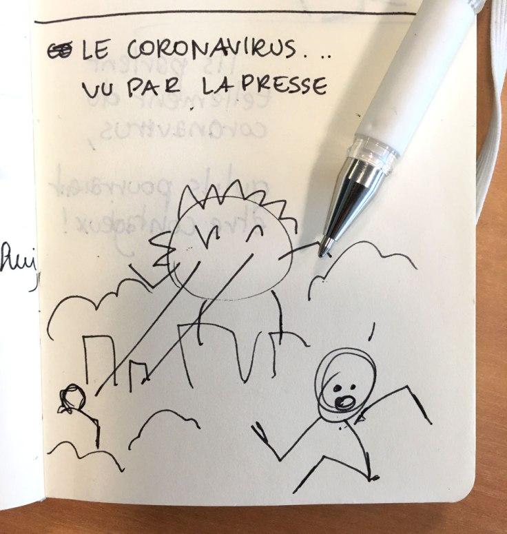 Coronavirus : premier croquis
