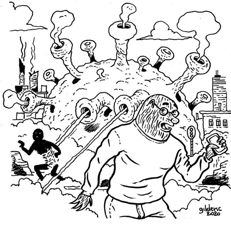 Dessiner le coronavirus : encrage