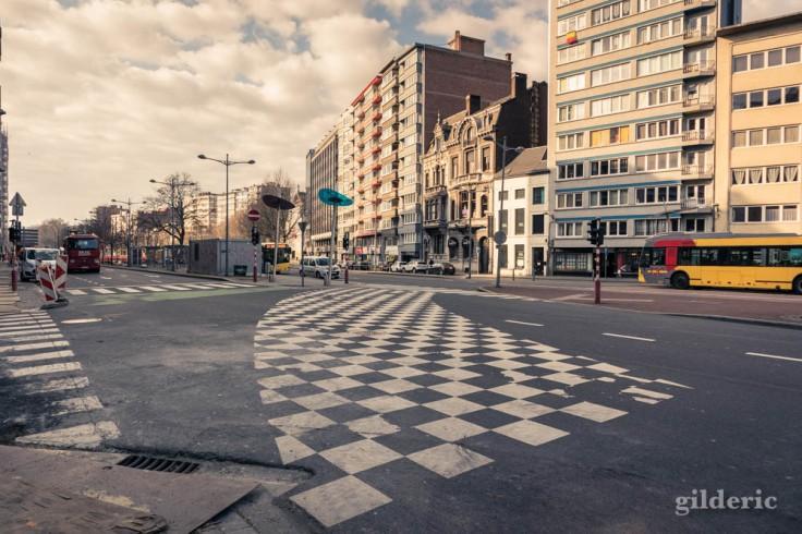 Liège Lockdown : Boulevard d'Avroy désert (street photography)