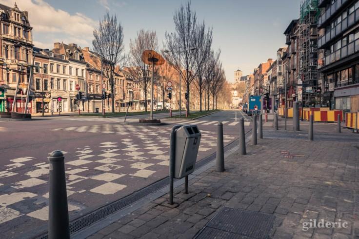 Liège Lockdown : Boulevard d'Avroy sans voitures (street photography)