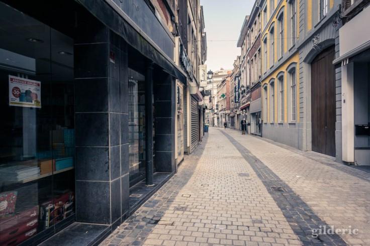 Liège Lockdown : rue saint-Paul déserte (suite au confinement luttant contre le coronavirus)
