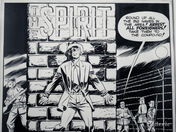 Spirit, le justicier masqué créé par Will Eisner (détail d'une planche)