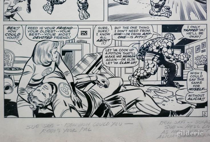 """Extrait d'une planche des """"Fantastic Four"""" dessinée par Jack Kirby"""