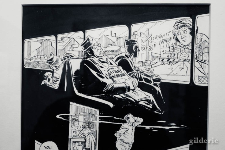 """Détail d'une planche du roman graphique """"To The Heart of the Storm"""" de Will Eisner"""